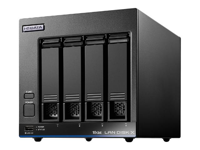【新品/取寄品/代引不可】10GbE&マルチギガビット対応 Linuxベース法人向け4ドライブNAS 4TB HDL4-XA4