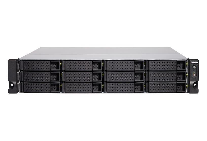【新品/取寄品/代引不可】TS-1283XU-RP-E2124-8G 168TB搭載モデル 2Uラック型 NAS ニアラインHDD 14TBx12 TS-1283XU-RP/168TB