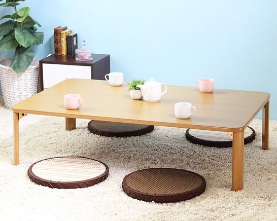 【新品/取寄品/代引不可】岩附 IWATSUKI 折れ脚テーブル IW-1164B (折畳みテーブル)