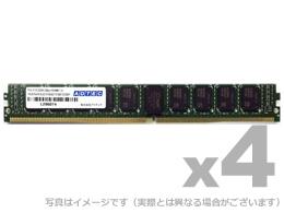 【新品/取寄品/代引不可】DDR4-2666 UDIMM ECC 16GB VLP 4枚組 ADS2666D-EV16G4