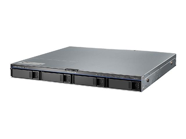 【新品/取寄品/代引不可】10GbE&マルチギガビット対応 Linuxベース法人向け4ドライブ ラックマウントNAS 16TB HDL4-XA16-U