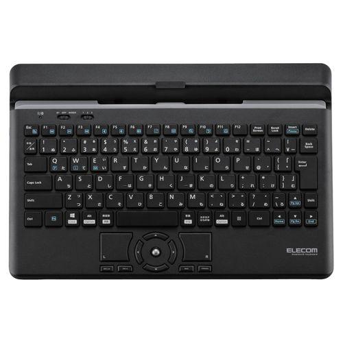 【新品/取寄品/代引不可】Bluetoothキーボード/スタンド付/マルチペアリング対応/ポインティングデバイス付/ブラック TK-DCP03BK