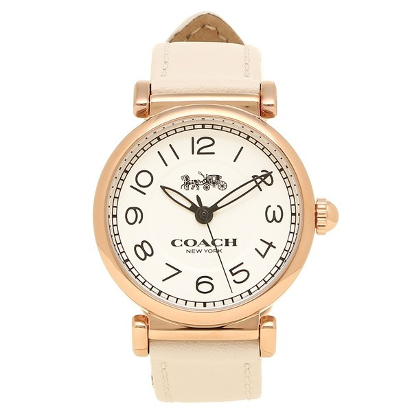 【新品/在庫あり】COACH 腕時計 レディース MADISON 14502862 ホワイト ローズゴールド