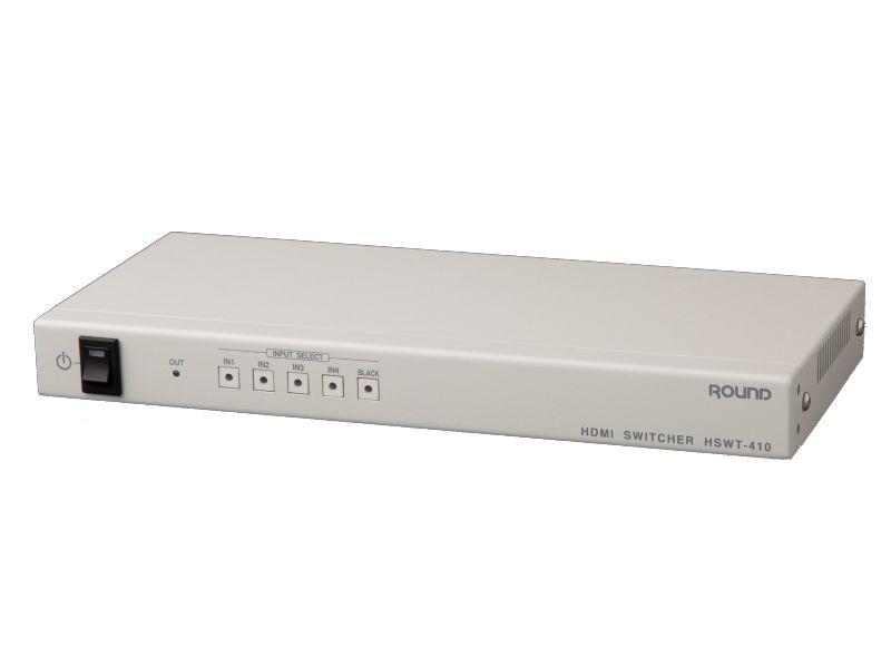 【新品/取寄品/代引不可】HDMI 4chセレクターHSWT-410(4入力1出力、DVI-D対応、業務用、外部制御対応) HSWT-410