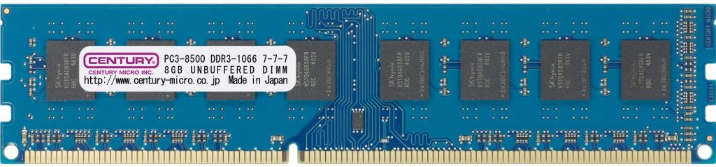 【新品/取寄品/代引不可】デスクトップ用 PC3-8500/DDR3-1066 6GBキット(2GB 3枚組) DIMM RoHS指令準拠 トリプルチャンネル向け CK2GX3-D3U1066