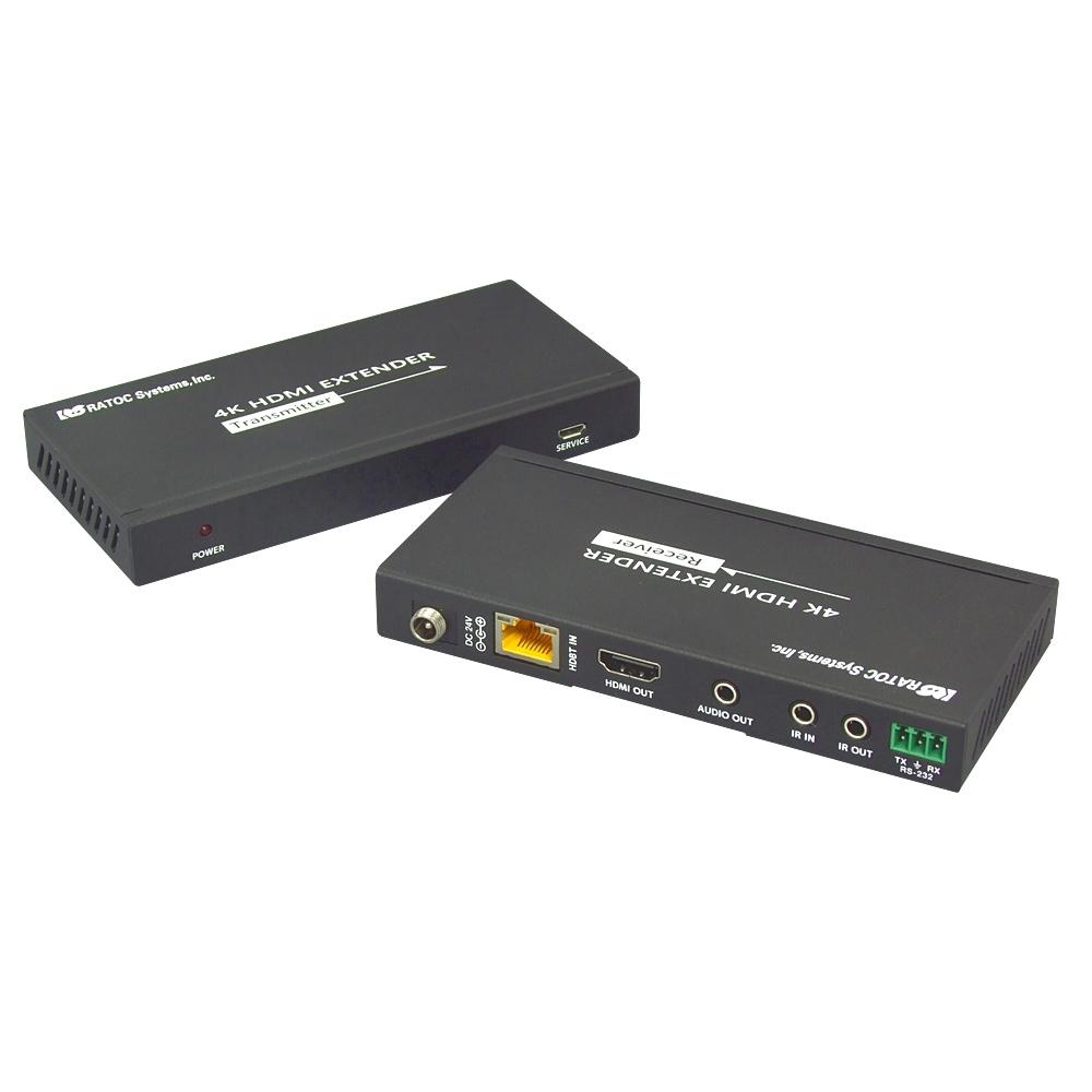 HDMI延長器(100m) RS-HDEX100-4K 【新品/取寄品/代引不可】4K60Hz対応