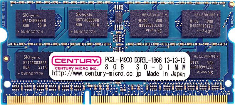 【新品/取寄品/代引不可】Mac用 PC3L-14900/DDR3L-1866 16GBキット(8GB2枚) SODIMM CK8GX2-SOD3LU1866M