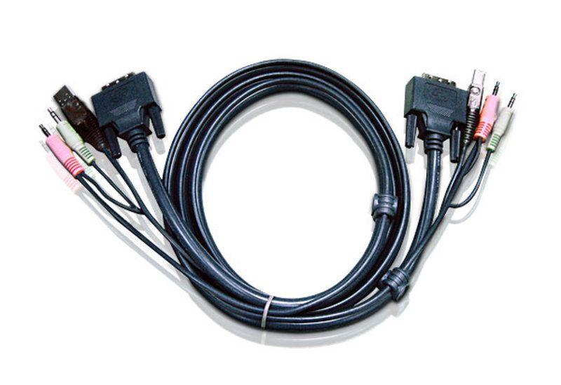 【新品/取寄品/代引不可】デュアルリンクDVI-D/USB/オーディオ/3.0m 2L-7D03UD/ATEN