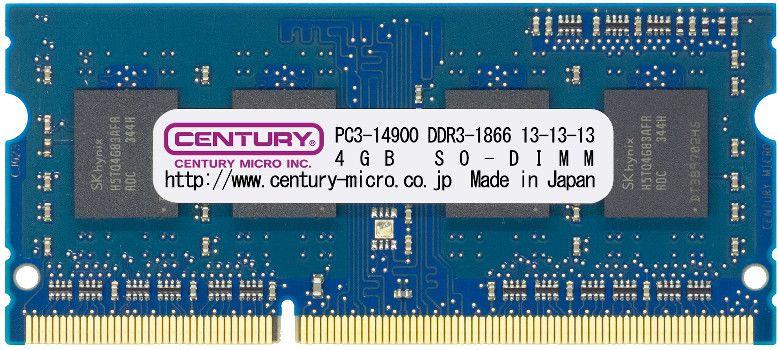 【新品/取寄品/代引不可】ノートPC用 PC3-14900/DDR3-1866 16GBキット(8GB2枚組) 204pin SODIMM 日本製 1.5v CK8GX2-SOD3U1866
