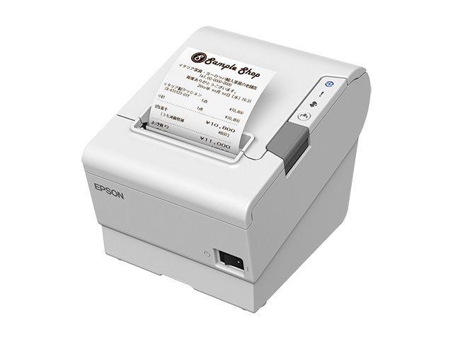 【新品/取寄品/代引不可】サーマルレシートプリンター TM-T88VI(Bluetooth /USB/有線LAN/無線LAN(オプション)/ホワイト) TM886B502W