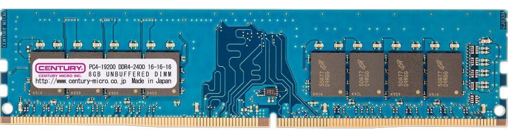 【新品/取寄品/代引不可】デスクトップ用 PC4-19200 DDR4-2400 288pin Unbuffered-DIMM 1.2v 8GB CD8G-D4U2400