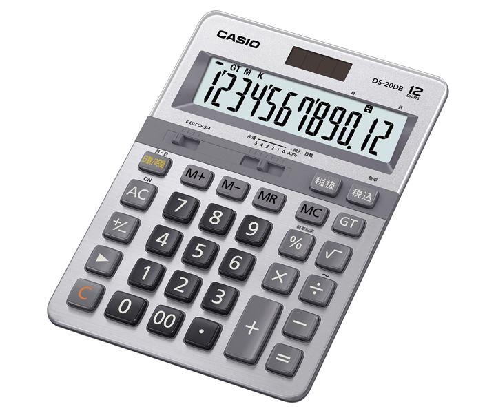 【新品/取寄品/代引不可】本格実務電卓デスクタイプ12桁 DS-20DB-N
