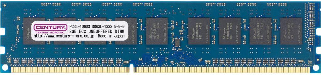 【新品/取寄品/代引不可】WS用低電圧メモリー DDR3L-1333 24GBキット(8GB3枚) ECC DIMM PC3L-12800 日本製 1.35v CK8GX3-D3LUE1333