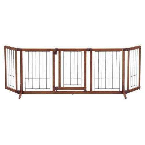 【新品/取寄品】ペット用木製おくだけドア付ゲート L
