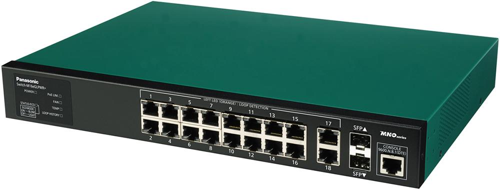 【新品/取寄品/代引不可】Switch-M16eGLPWR+ PN28168 [グリーン/ブラック]