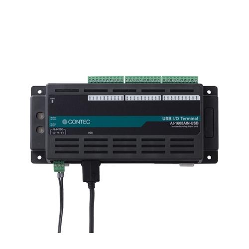 【新品/取寄品/代引不可】絶縁型アナログ入力ユニット 電流 USB対応 AI-1608AIN-USB