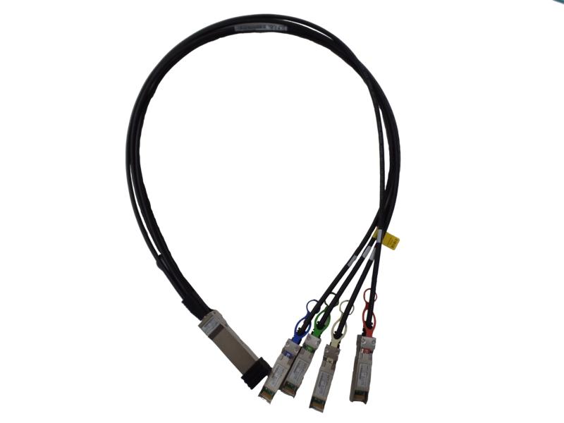 【新品/取寄品/代引不可】100GbE QSFP28 to 4x25GbE 1m DAC ブレークアウトケーブル Q9S72A