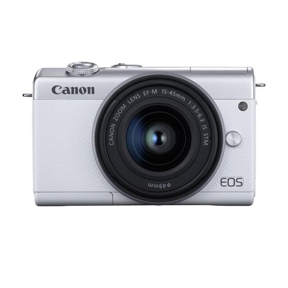 【新品/取寄品】ミラーレスカメラ EOS M200(ホワイト)・EF-M15-45 IS STM レンズキット[3700C008] EOSM200WH-1545ISSTMLK