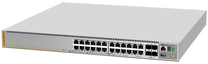 【新品/取寄品/代引不可】AT-x530-28GPXm[100/1000BASE-Tx20(PoE-OUT)、100/1000/2.5G/5GBASE-Tx4(PoE-OUT)、SFP+スロットx4] 3825R