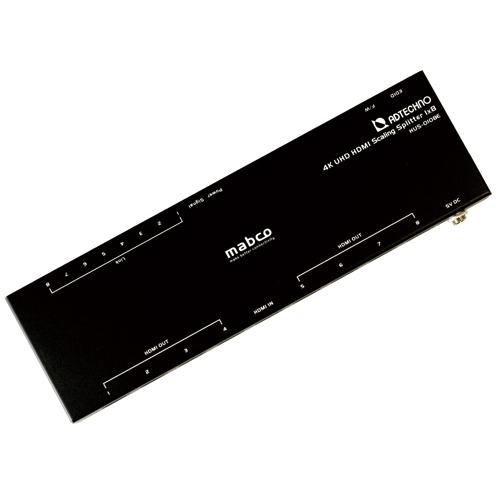 【新品/取寄品/代引不可】スケーリング機能搭載 業務用薄型HDMI 2.0a 8分配器 HUS-0108E