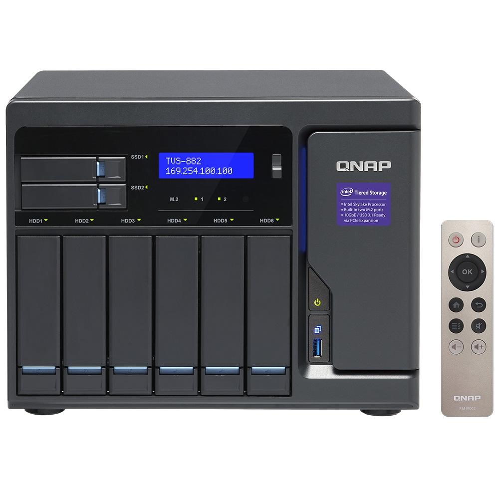 【新品/取寄品/代引不可】TVS-882-i3-8G 18TB搭載モデル(タワー型 NAS HDD3TBx6個搭載) TVS-882/18TB
