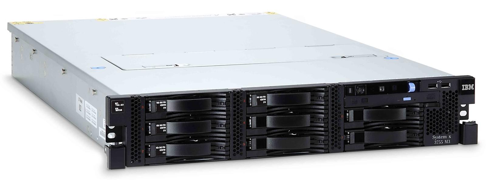 【新品/取寄品/代引不可】System x3755 M3/Opte-6262HE(16) 1.60GHz×4/PC3L-10600 32.0GB(4.0×8)(Chipkill)/RAID-M1015/POW(1100W×1)/OSなし/3年保証24x