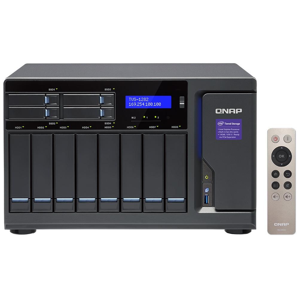 【新品/取寄品/代引不可】TVS-1282-i3-8G 8TB搭載モデル(タワー型 NAS HDD1TBx8個搭載) TVS-1282/8TB