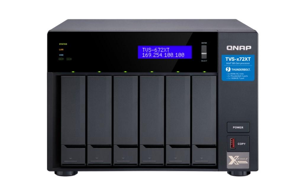 【新品/取寄品/代引不可】TVS-672XT-i3-8G 24TBモデルタワー型NAS ミドルクラスHDD4TBx6個搭載 TVS-672XT/24TB-A