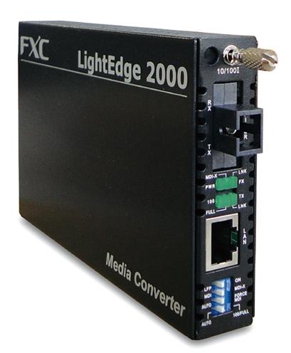 【新品/取寄品/代引不可】10BASE-T/100BASE-TX to 100BASE-FX(シングルモード SCコネクタ 20Km) 1芯型メディアコンバータ + 同製品SB5バンドル LE2841-20B-ASB5