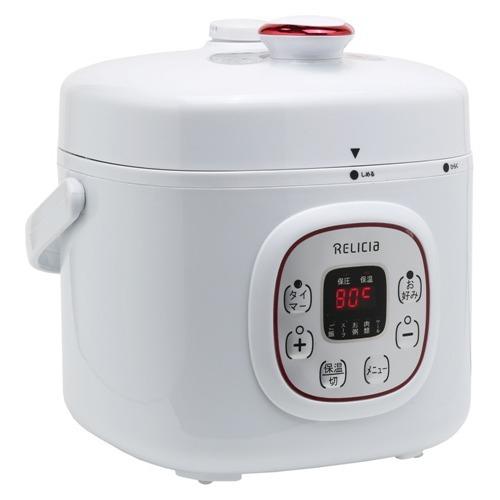 【通販限定/新品/取寄品/代引不可】レリシア コンパクト電気圧力鍋2L RLC-PC02RF ホワイト 1台