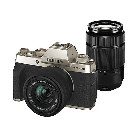 【新品/取寄品】デジタルカメラ FUJIFILM X-T200 ダブルズームレンズレンズキット シャンパンゴールド X-T200WZLK-G
