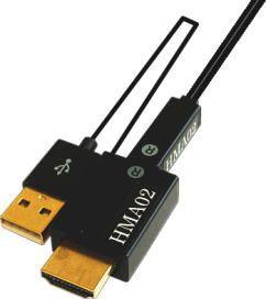 【新品/取寄品/代引不可】モニタ延長ユニット一体型光延長ケーブル18m HMA02-18