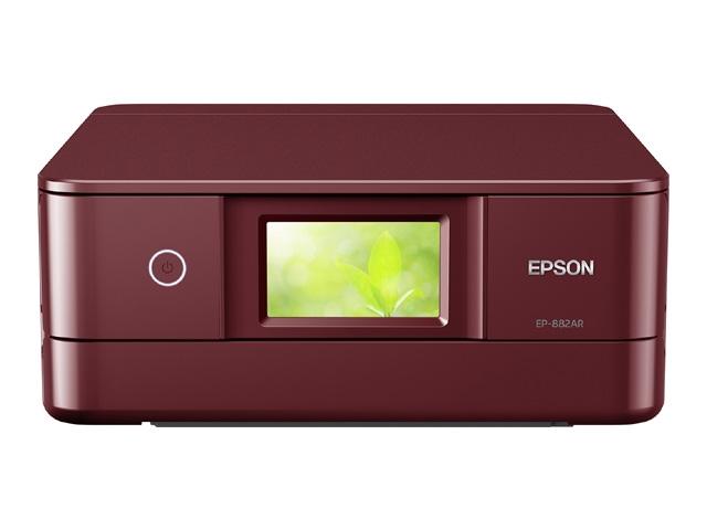 【新品/取寄品/代引不可】Colorio 多機能モデル EP-882AR(レッドモデル/A4/有線・無線LAN/Wi-Fi Direct/4.3型ワイドタッチパネル/自動両面印刷/レーベルプリント/6色染料) EP-882AR
