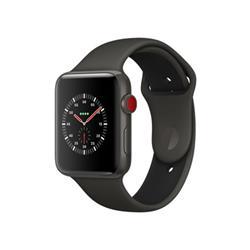 【新品/在庫あり】Apple Watch Edition Series 3 GPS+Cellularモデル 42mm MQM62J/A [グレイ/ブラックスポーツバンド]