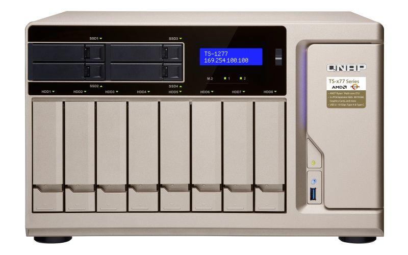 【新品/取寄品/代引不可】TS-1277-1700-16G 80TB搭載モデル(タワー型 NASHDD 10TBx8個搭載) TS-1277/80TB