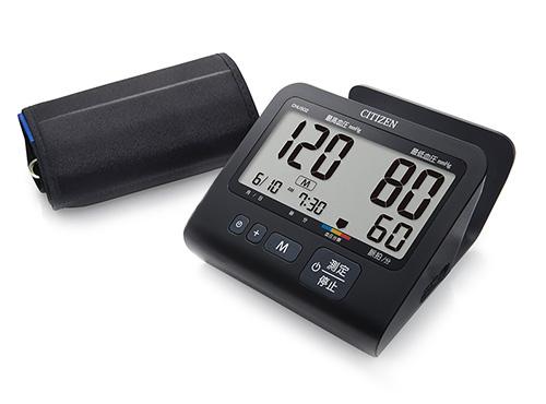 【新品/取寄品】シチズン 上腕式血圧計 CHU502-BK [ACアダプター付き マットブラックモデル]