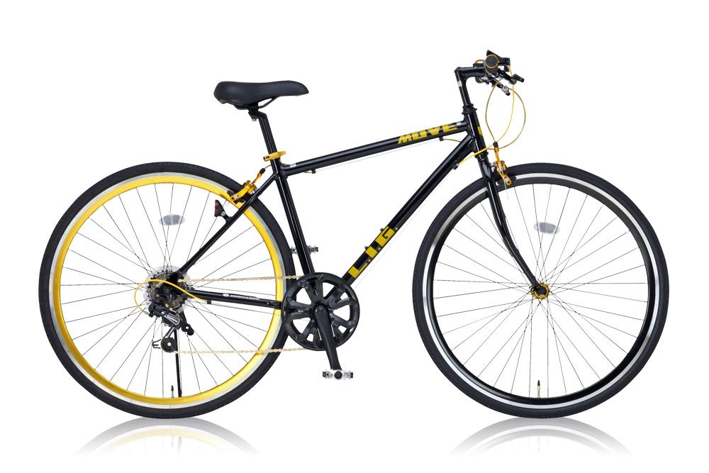【新品/取寄品/代引不可】LIG MOVE ブラック (19246) クロスバイク 700×28C・7段変速【北海道・沖縄・離島配送不可】