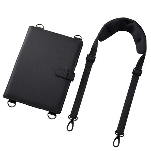 【新品/取寄品/代引不可】ショルダーベルト付き10.1型タブレットPCケース(スタンド機能付き) PDA-TAB4ST