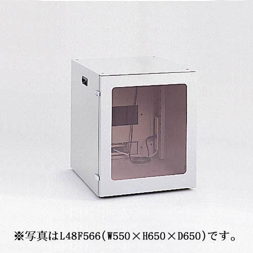 【新品/取寄品/代引不可】FA防塵パソコンロッカー 幅550mm L48F564