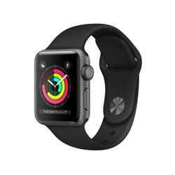 【新品/在庫あり】Apple Watch Series 3 GPSモデル 38mm MTF02J/A ブラックスポーツバンド