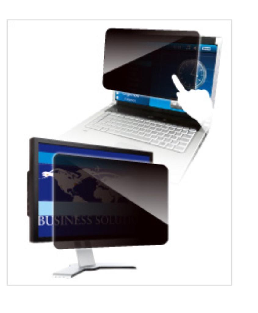 【新品/取寄品/代引不可】覗き見防止フィルター Looknon N8 デスクトップ用25.5Wインチ(16:10)テープ仕様タテ型 LNWH-256N8T