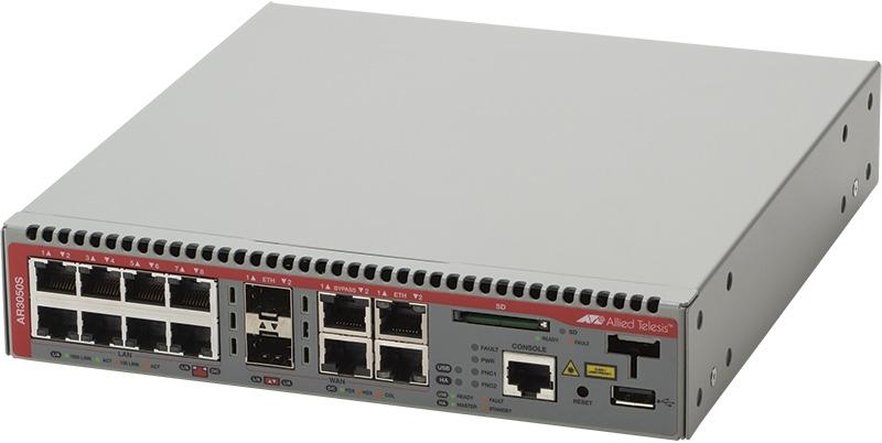 【新品/取寄品/代引不可】AT-AR3050S-N5アカデミック[WAN:10/100/1000BASE-Tx2(コンボ)、SFPスロットx2(コンボ)、バイパスポートx2、LAN:10/100/1000BASE-Tx8、USBポートx1、SDカードス