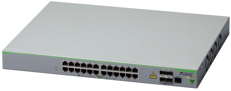 【新品/取寄品/代引不可】AT-FS980M/28PS [10/100BASE-TXx24(PoE-OUT)、SFPスロットx4] 3307R