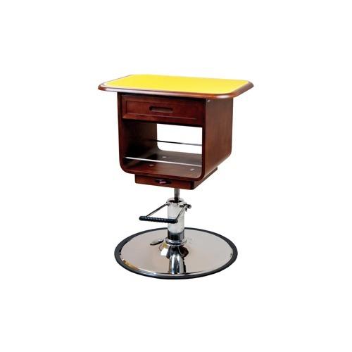 【通販限定/新品/取寄品/代引不可】ウッディーエレガント 油圧式テーブル M 茶 1台