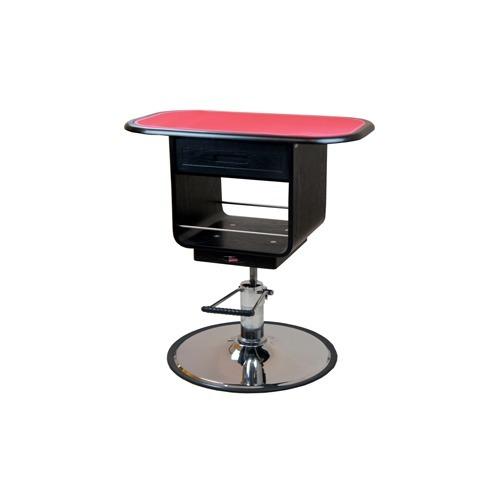 【通販限定/新品/取寄品/代引不可】ウッディーエレガント 油圧式テーブル M 黒 1台