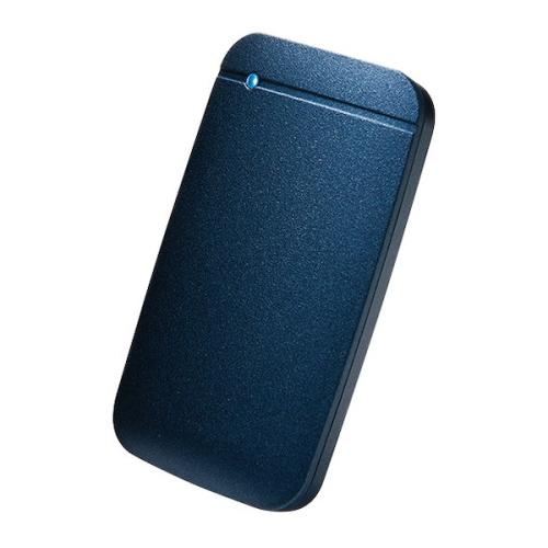 【新品/取寄品/代引不可】外付けSSD/ポータブル/USB3.2(Gen1)対応/TLC搭載/Type-C&Type-Aケーブル付属/250GB/ネイビー ESD-EF0250GNV