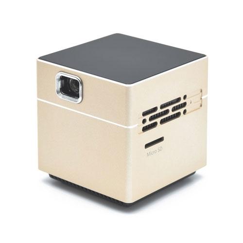 【新品/取寄品/代引不可】ポータブルプロジェクター CUBE ゴールド SPCUGD