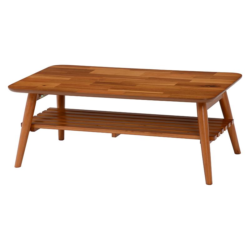 【新品/取寄品/代引不可】萩原 折れ脚テーブル(アカシア) MT-6921AC【北海道・沖縄・離島配送不可】