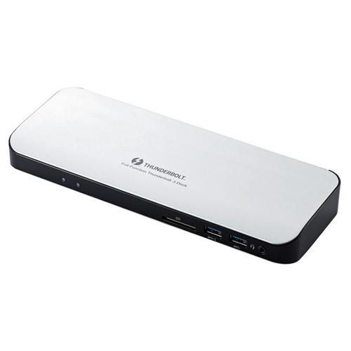 【新品/取寄品/代引不可】Type-Cドッキングステーション/PD対応/ThunderBolt3対応Type-C2ポート/USB(3.0)5ポート/HDMI1ポート/4極φ3.5端子/SDスロット/LANポート/ACアダプタ同梱/シルバー DST-TB