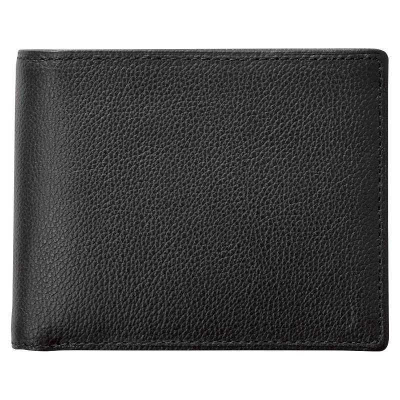 【新品/取寄品】【特選商品】KOBEレザー 紳士二つ折り財布 クロ NP55115
